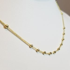 Jewelry - NEW Dainty 925 Silver Ball Chain Choker Necklace